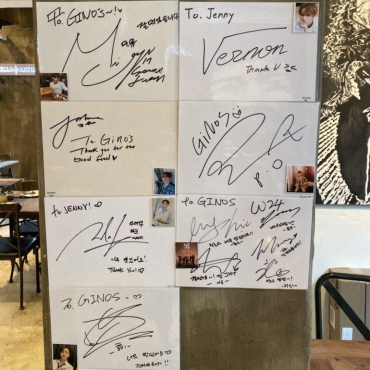 Gino's NY Pizzaのサイン
