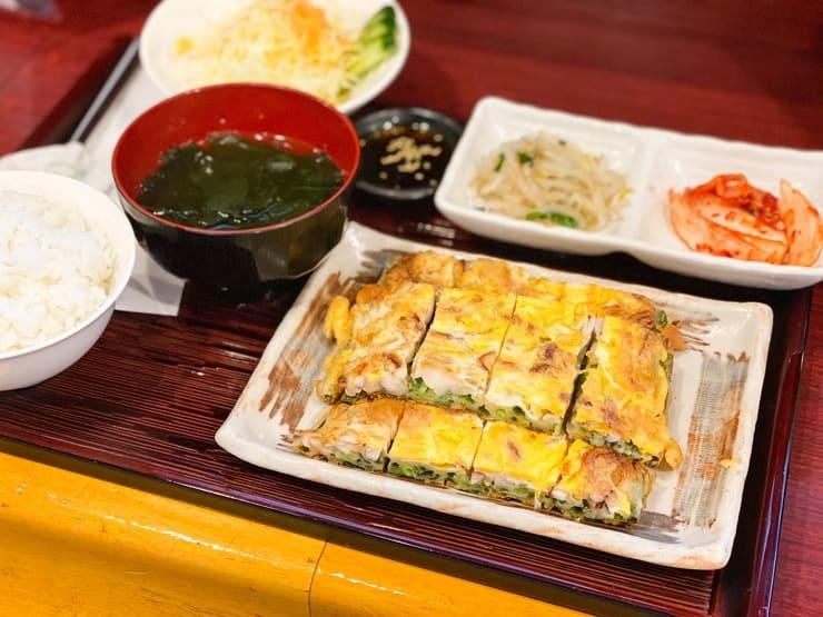ランチ:海鮮ねぎチジミ定食